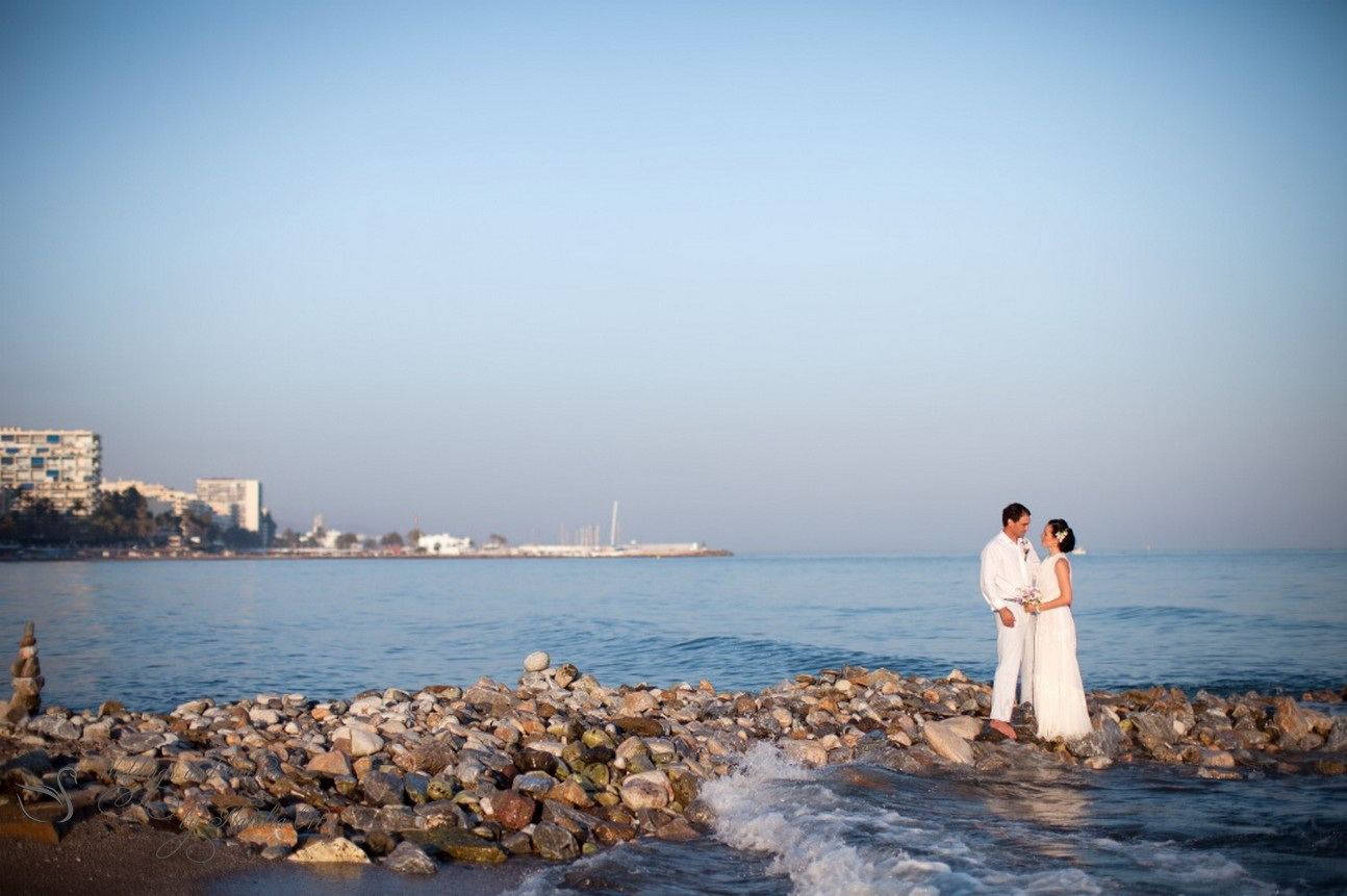A wedding on a coast in Spain.