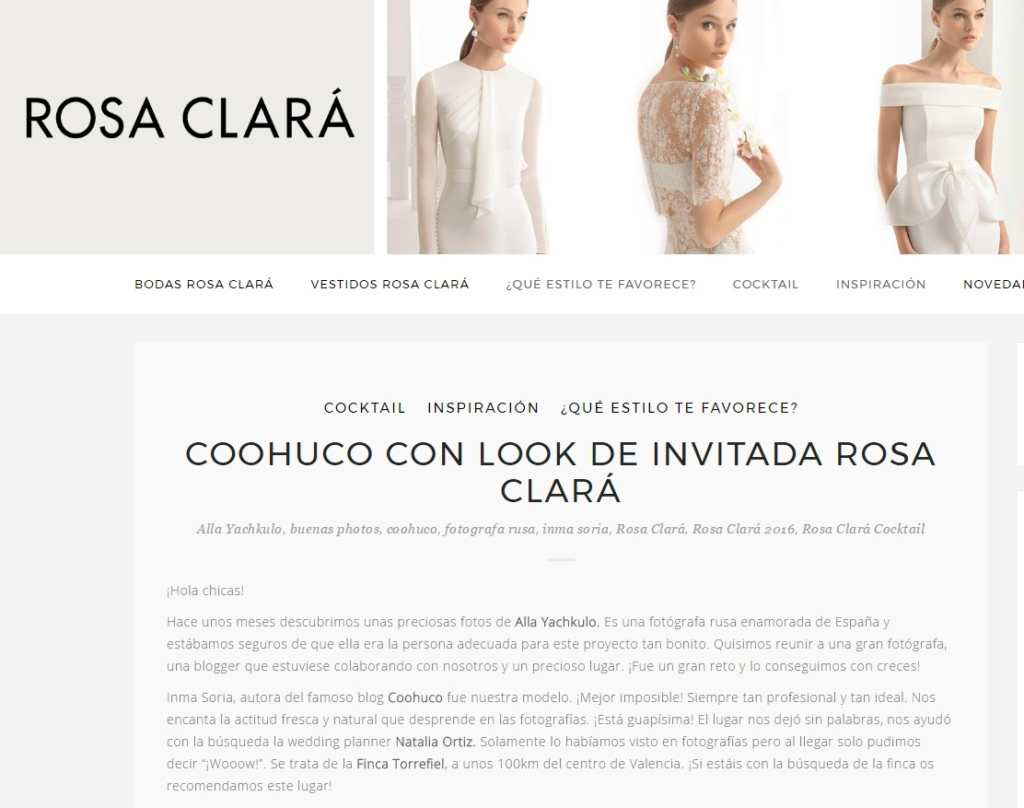 Rosa Clara con Natalia Ortiz organizadora de bodas
