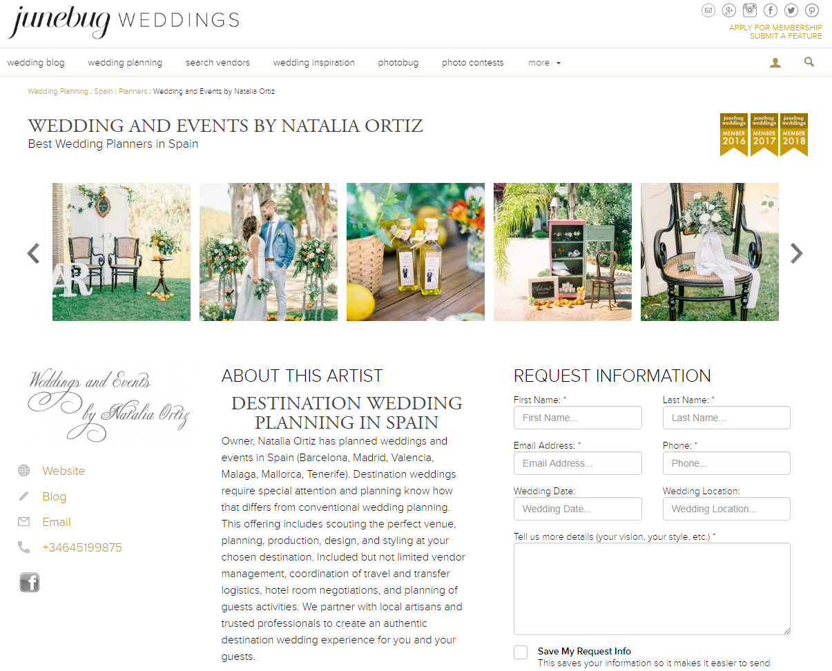 Natalia Ortiz Janebug Weddings