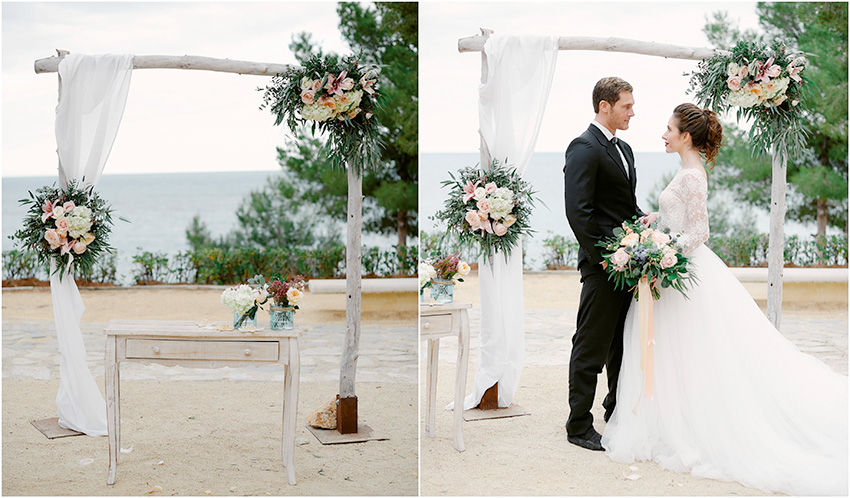 Wedding beach ceremony in Alicante