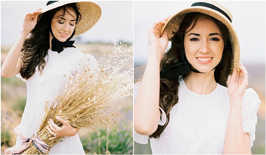 Wedding in lavender field