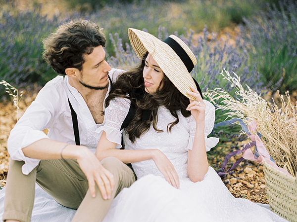 Wedding in lavender field