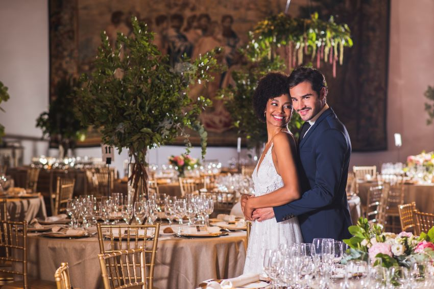 Elegant wedding with charm and essence in Fábrica de Tapices