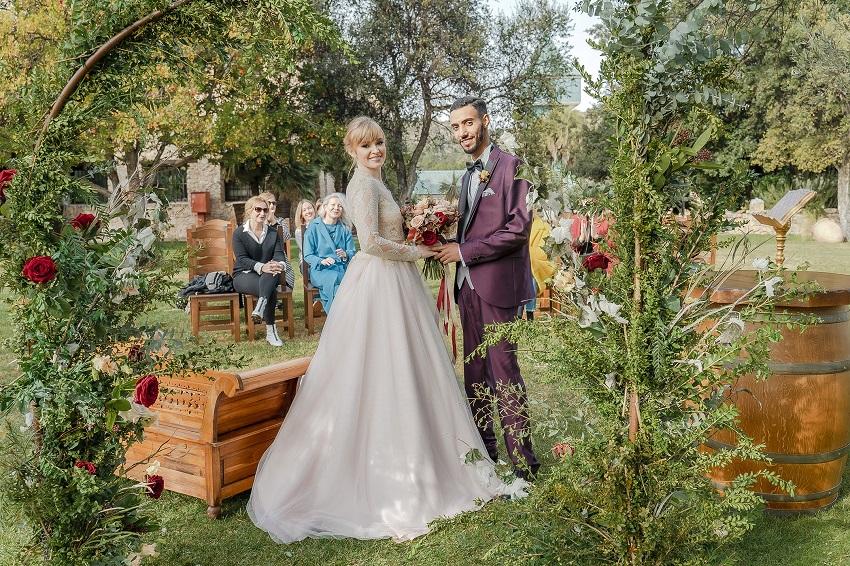 Tra vino,uva,vigneti e botti: matrimonio in una cantina