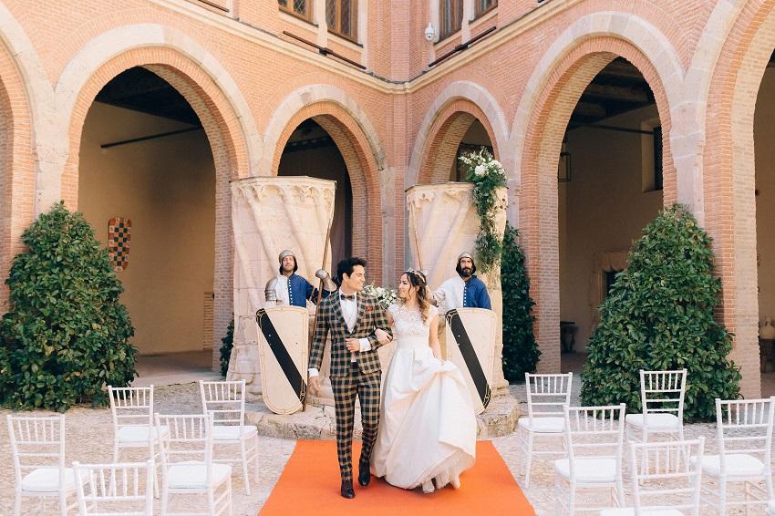 Свадьба Лидии и Сандро под сводами мудехарских крыш замка Бельмонте