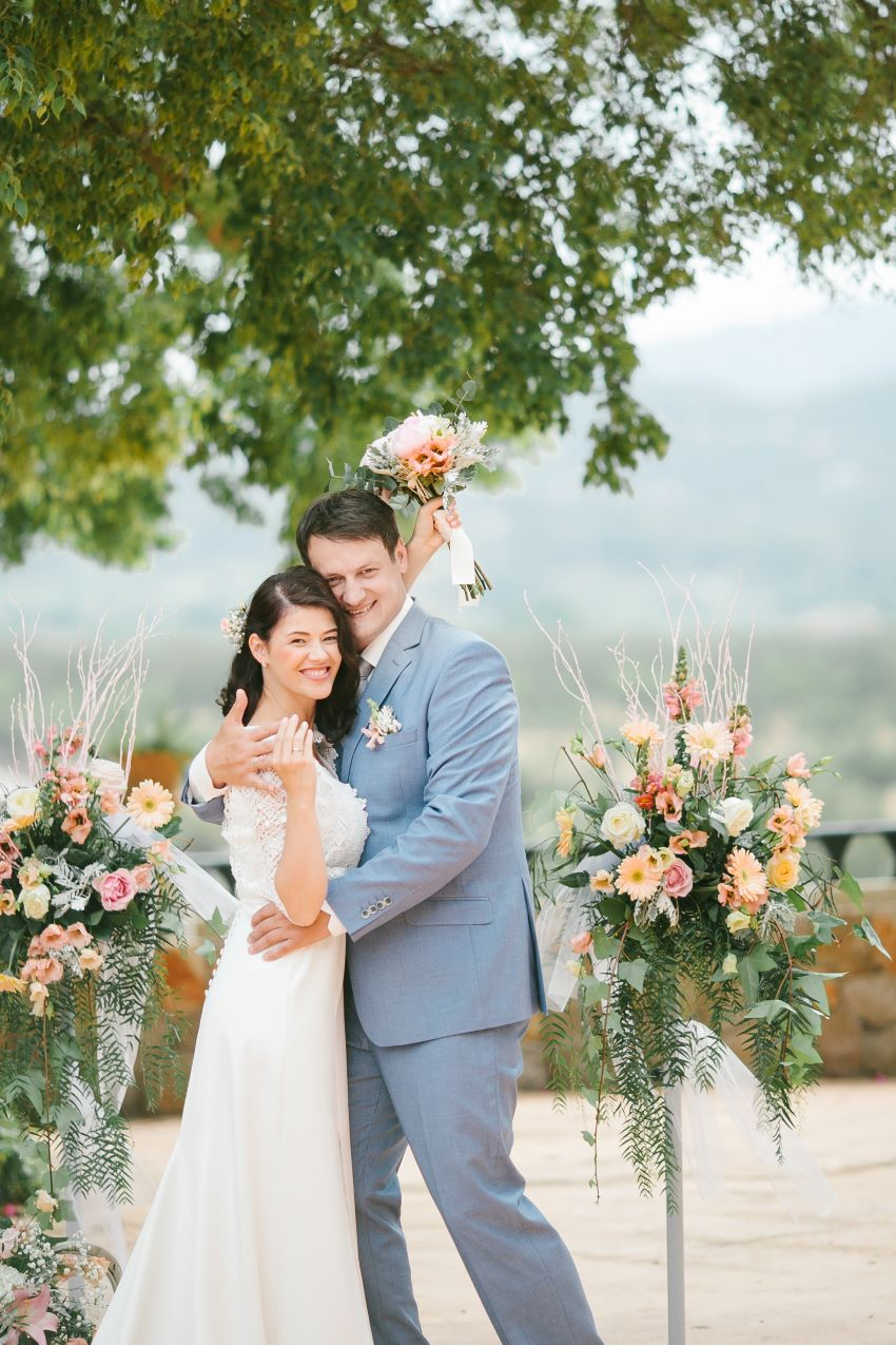 Romantic wedding in Majorcan Country House
