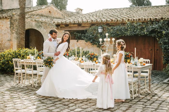 A Wedding Amongst The Orange Trees On The Beautiful Island Of Mallorca